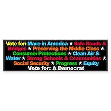 Vote for a Democrat Bumper Bumper Sticker