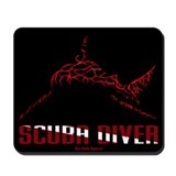 BullShark Scuba Diver Mousepad