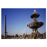 Fountain and Obelisk Place de la Concorde Paris Fr