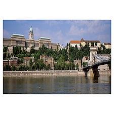 Hungary, Budapest, Royal Palace, Chain Bridge