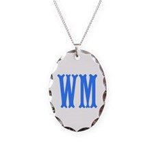 Custom Initials in Blue. Necklace