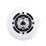 "Casino Chip 3.5"" Button (100 pack)"