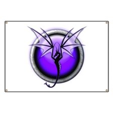 Purple Spirit Dragon Banner