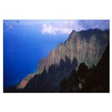 Clouds over mountains, Kalalau Valley, Na Pali Coa