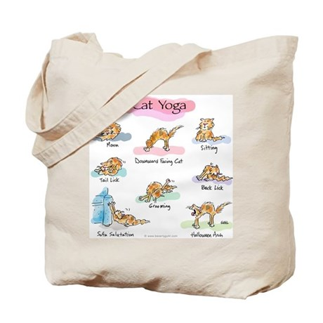 Yoga Tote Bags on Cat Yoga Poses Tote Bag Jpg Color Na Height 460 Width 460