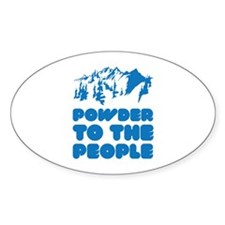 Powder To The People Decal