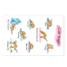 Cat YOGA POSES Postcards (Package of 8)