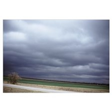Storm clouds over a field, Interstate 80, Lincoln