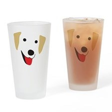 Yellow Lab's Face Drinking Glass
