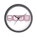 Sleep- Dance- Eat- Repeat Wall Clock