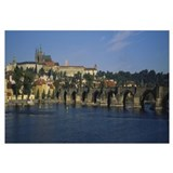 Bridge across a river, Charles Bridge, Vltava Rive