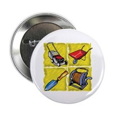"Gardening Tools. 2.25"" Button (100 pack)"