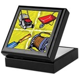 Gardening Tools. Keepsake Box