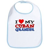 I Love My Cuban Grandpa Bib