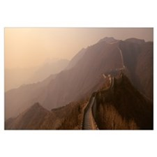 High angle view of the Great Wall Of China, Mutian