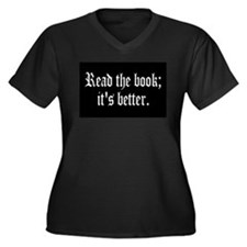 Unique Reader Women's Plus Size V-Neck Dark T-Shirt