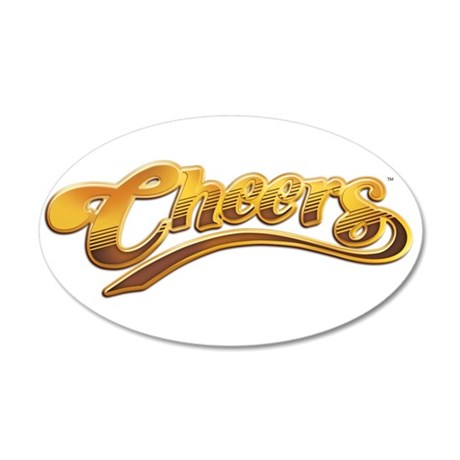Cheers TV Show Retro 38.5 x 24.5 Oval Wall Peel