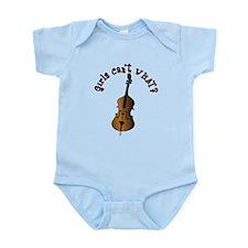 String Upright Double Bass Infant Bodysuit
