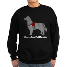 Please Don't Pet Me Dog Logo Sweatshirt