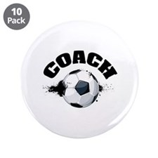 "Soccer Coach 3.5"" Button (10 pack)"
