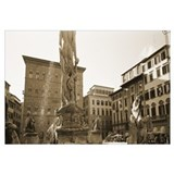 Statues in front of buildings, Florence, Italy