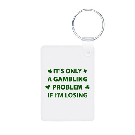 Gambling Problem Aluminum Photo Keychain