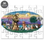 St. Fran (Ov)-Dogs-Cats-Hrs Puzzle