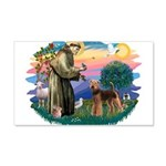 St Francis #2/ Airedale 22x14 Wall Peel