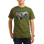 St Francis/ Aus Shep Organic Men's T-Shirt (dark)