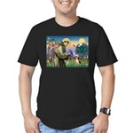 St Francis/Beagle Men's Fitted T-Shirt (dark)