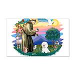 St Francis #2/ Bichon #1 22x14 Wall Peel