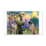 St Francis / Bullmastiff 22x14 Wall Peel