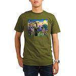 St Francis / Bullmastiff Organic Men's T-Shirt (da