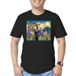 St Francis / Bullmastiff Men's Fitted T-Shirt (dar