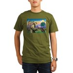 St Francis Doxie Organic Men's T-Shirt (dark)