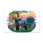 St.Francis #2/ Dobie (cropped 22x14 Wall Peel