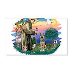 St.Francis #2/ German Shep (P 22x14 Wall Peel