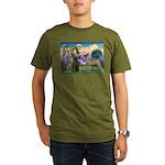 Saint Francis' Great Dane Organic Men's T-Shirt (d