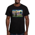 Saint Francis' Great Dane Men's Fitted T-Shirt (da