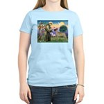 Saint Francis' Great Dane Women's Light T-Shirt