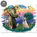 St.Francis #2/ Yellow Lab Puzzle