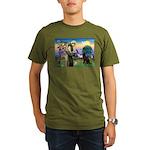 St Francis Chocolate Lab Organic Men's T-Shirt (da