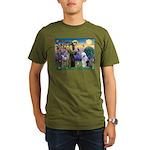 ST. FRANCIS + OES Organic Men's T-Shirt (dark)