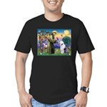 ST. FRANCIS + OES Men's Fitted T-Shirt (dark)