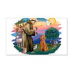 St.Fran #2/ Poodle (Std-ap) 22x14 Wall Peel