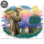 St.Francis #2/ Pugs (2-blk/f) Puzzle