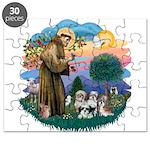 St.Francis #2/ Shih Tzus (4) Puzzle