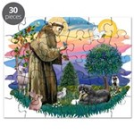 St.Francis #2/ Tibetan Spani Puzzle