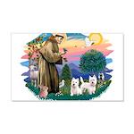 St.Francis #2/ Westies (2) 22x14 Wall Peel