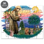 St. Francis / 2 Yorkies Puzzle